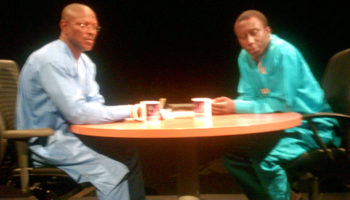Kwaku with Prof. Francis Dodoo (Olympian Sociologist) on Kwaku One-on-One on Sunday 10th August 2008
