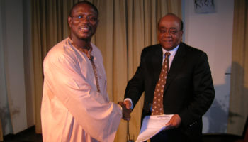 Kwaky Sakyi-Addo with Dr. Mo Ibrahim Founder of Celltel and President of Mo Ibrahim Foundation