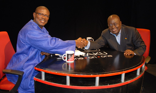 Nana Akufo Addo NPP Presidential Candidate on KWAKU one-on-one on 23rd Nov 2008